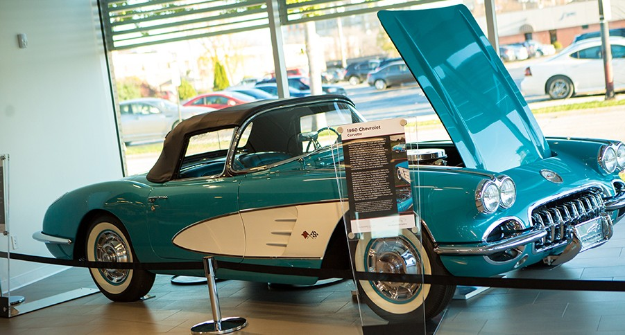1960 Chevrolet Corvette on the showroom floor