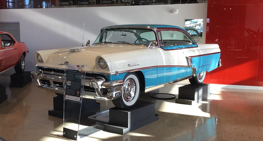 Mercury Car on Pedestals