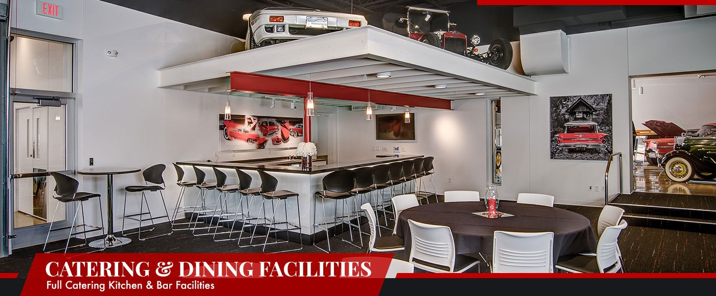 Event Staging And Preparation Is Simplified With The Automobile Gallerys Full Kitchen Serving Facilities Our Spacious Functional